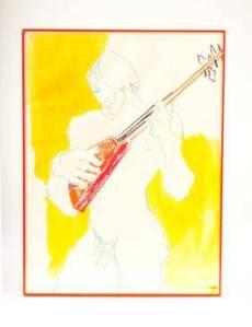 Young Man with Banjo by Johanna Despres