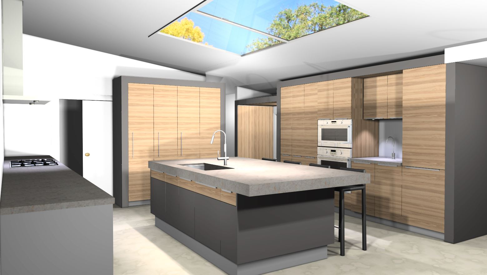 Kitchen No Wall Cabinets Modern Kitchen Design Midcentury In A Colonial Town