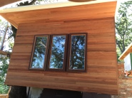 Beautiful new redwood siding